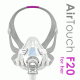 ResMed AirTouch F20 For Her Στοματορινική Μάσκα CPAP Με Κεφαλοδέτη